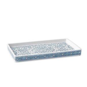 Blue/White Medallion Pattern Vanity Tray